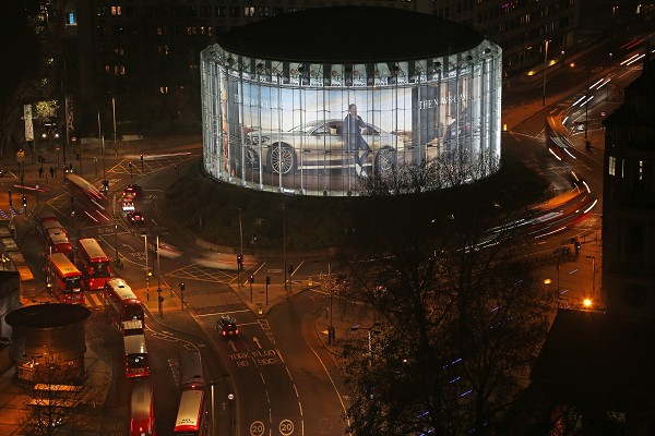 Mercedes-Benz Cars  luxury campaign with new S-Class installation at London's BFI IMAX