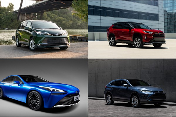 Bevy of Toyota Hybrids